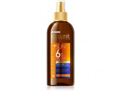 EVELINE SUN Amazing Oils olej na opaľovanie s urýchľovačom opaľovania OF6 150ml