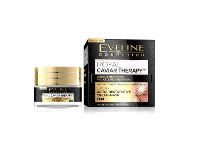EVELINE Royal Caviar Therapy nočný krém/maska 50ml