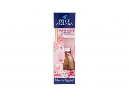 20574 0020332 felce azzurra diffusore a bastoncini fiori di ciliegio peonia 600