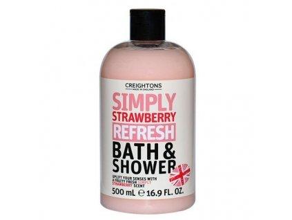 Creightons Bath & Shower Strawberry sprchový gél & pena do kúpele 500ml