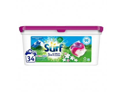 Surf Mountain Fresh & Jasmine gélové kapsule 34ks