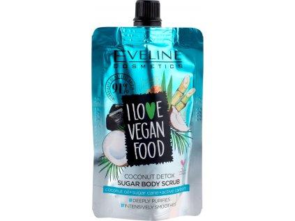 eveline cosmetics i love vegan food piling za tijelo kokos