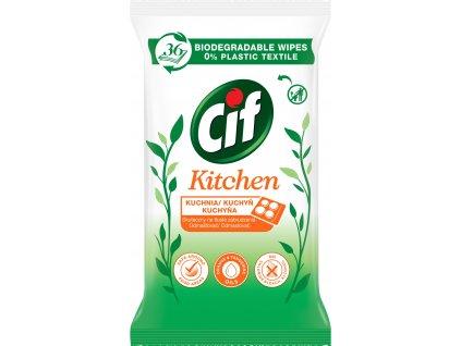 Cif Kitchen vlhčené obrúsky 36ks