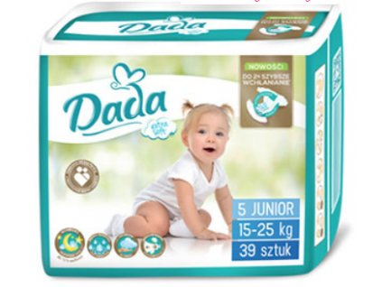 Dada Extra Soft Junior 5 Eko plienky 39ks 15 25kg