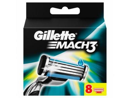 Gillette Mach3 náhradné čepielky 8ks