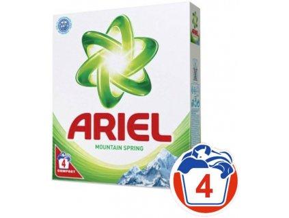 Ariel Mountain Spring prací prášok 4 praní 400g