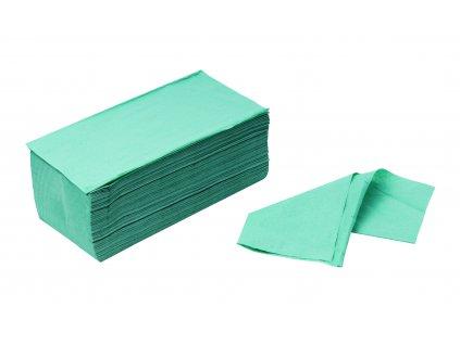 Papierové utierky ZZ zelené 250ks