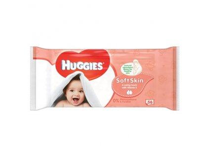Huggies Soft Skin vlhčené utierky 56ks