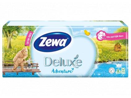 Zewa Deluxe Adventure papierové kapesníky 10 x 10 ks