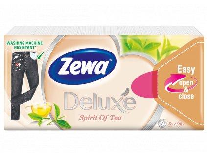 Zewa Deluxe Spirit Of Tea papierové kapesníky 3vrst. 90ks
