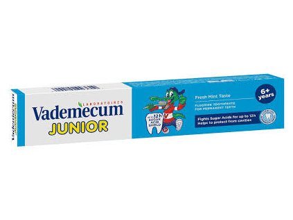Vademecum Junior 6+ zubná pasta Spearmint 75ml