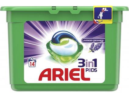 Ariel 3in1 Levander gélové kapsule 14ks