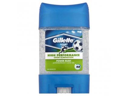 Gillette High Performance Power Rush gélový antiperspirant 70 ml