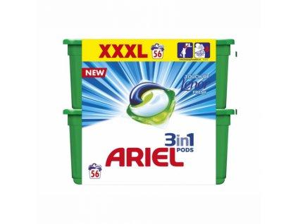 Ariel 3in1 Touch of Lenor gélové kapsule 56ks