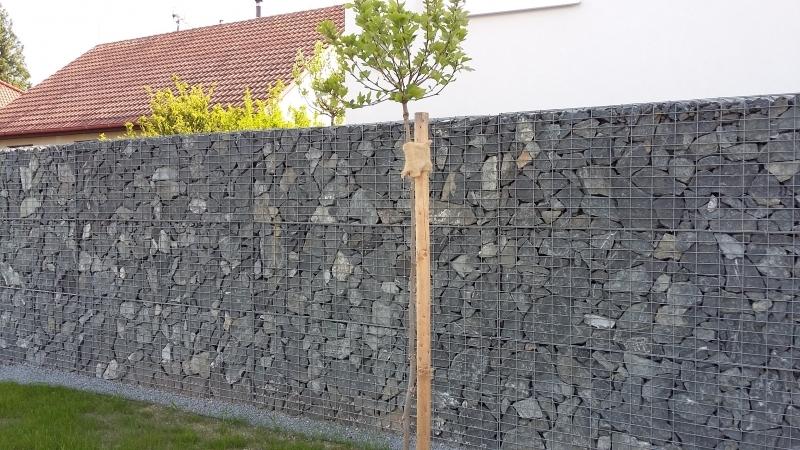 Gabionové stěny 10x5cm