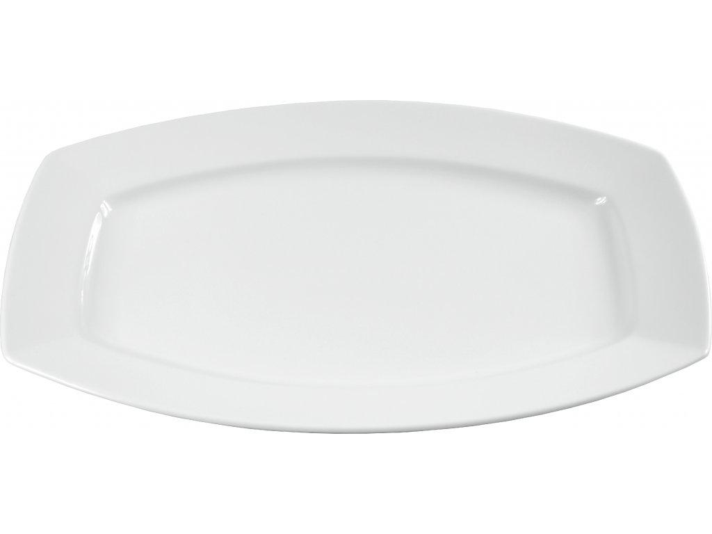 """Tanier oválny """"HOTEL"""" porcelánový 35 cm"""