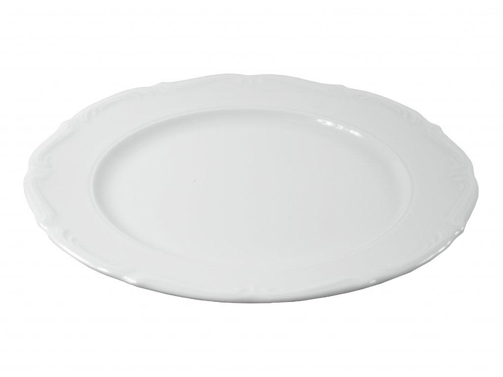 """Tanier plytký """"BAROK"""" porcelánový Ø 25 cm"""
