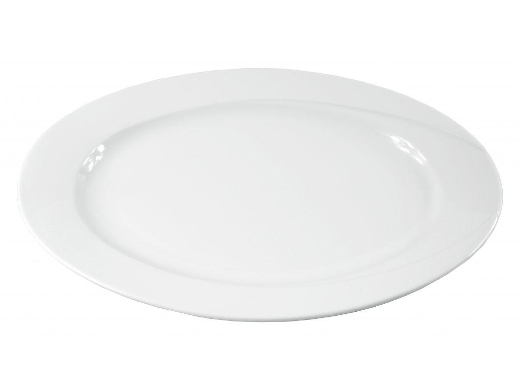 "Tanier oválny ""DELTA"" porcelánový 33 cm"