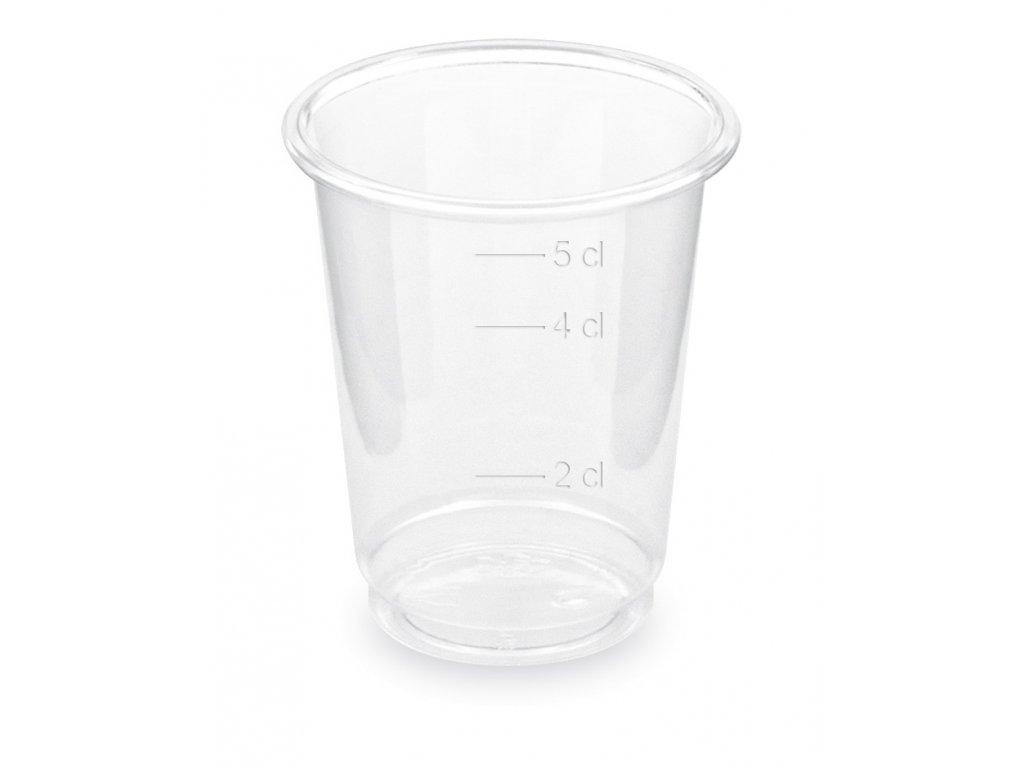 Pohár číry PET 2 cl / 4 cl / 5 cl (Ø 48 mm) [40 ks]