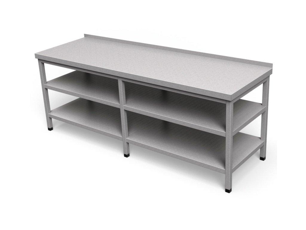 Pracovný stôl s dvoma policami dlhý PS 10