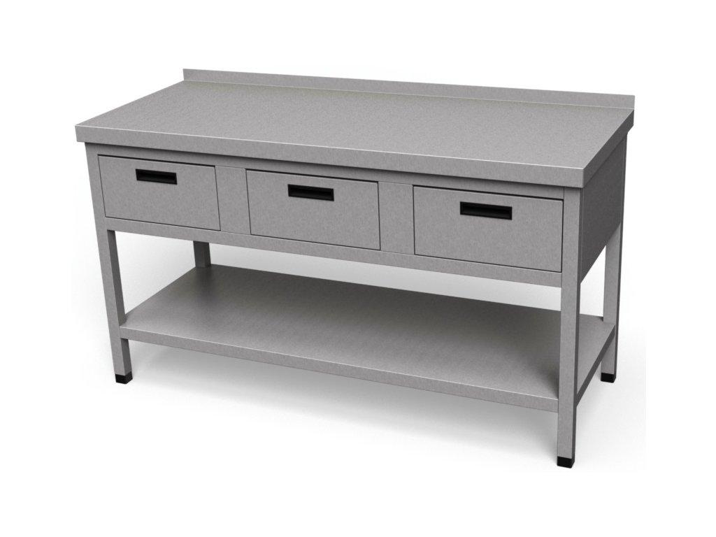 Pracovný stôl so zásuvkami a policou PS 16