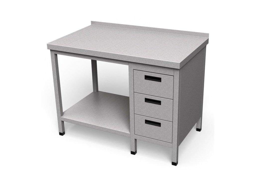 Pracovný stôl so zásuvkami a policou PS 25