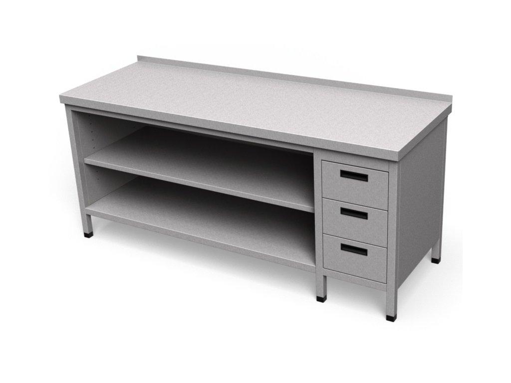 Pracovný stôl so zásuvkami krytovaný dlhý PS 28
