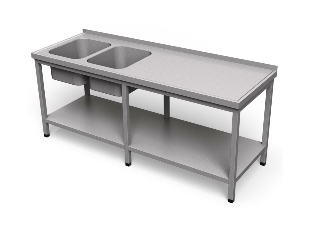 Umývací stôl s policou dlhý US 23