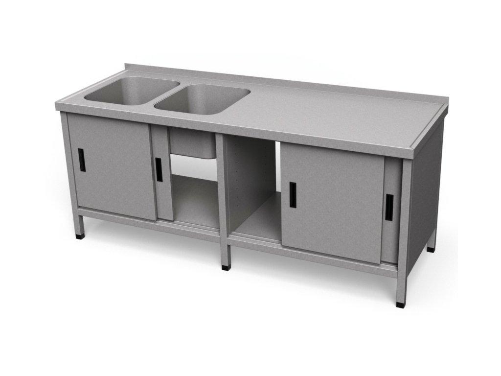 Umývací stôl s krytovaním dlhý US 37