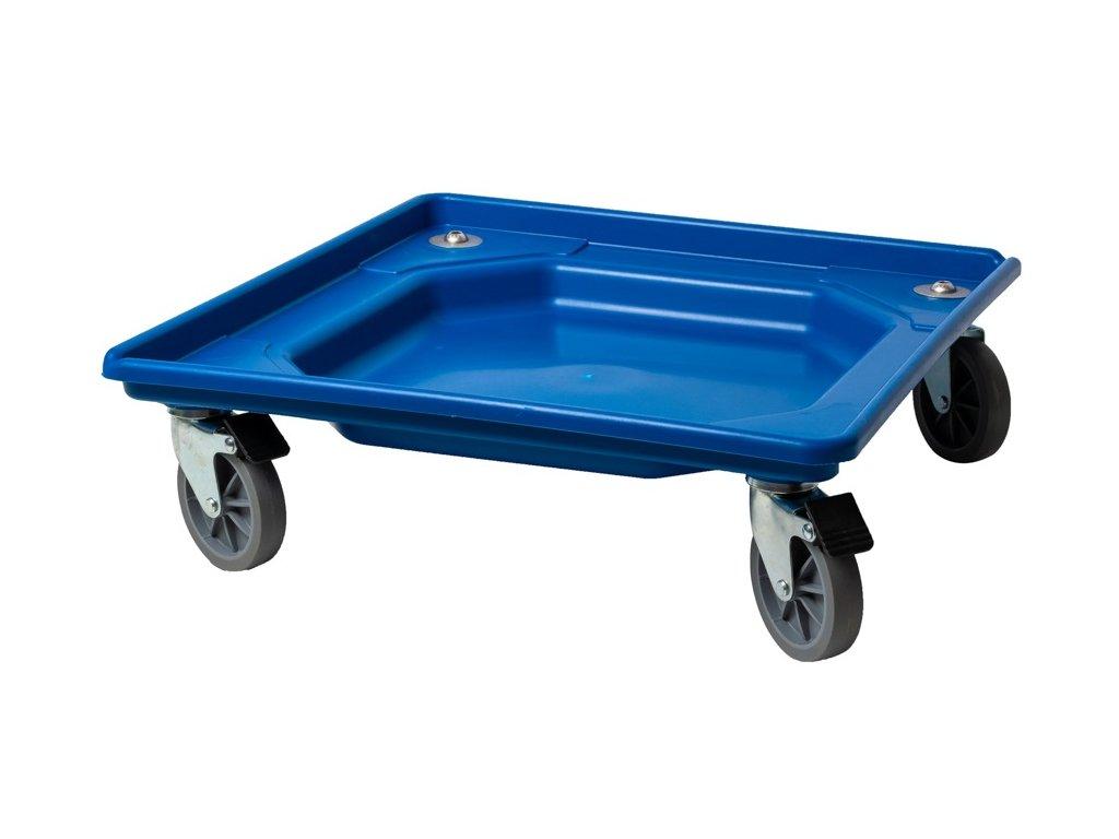 Vozík s brzdami manipulačný 55x55x12 cm