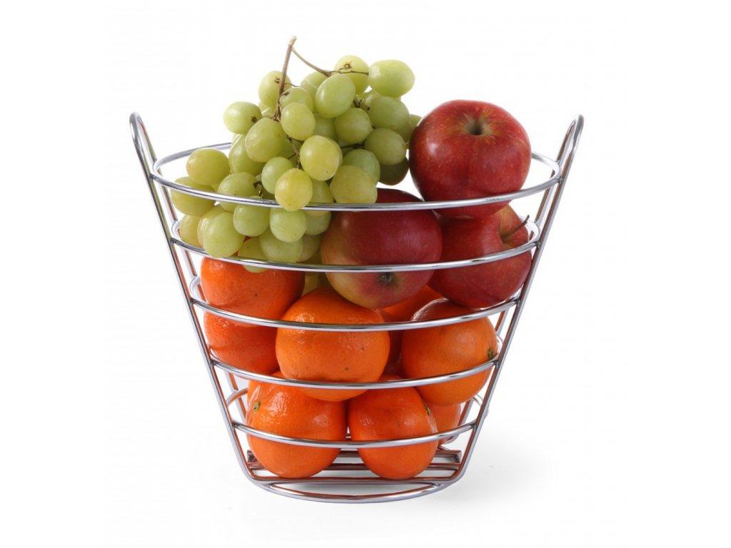 kosik na ovocie chromovy Ø21x20 cm