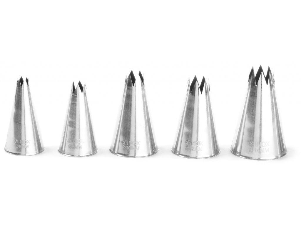 Trysky plniace ozúbené nerezové Ø 6-8-10-12-14 mm