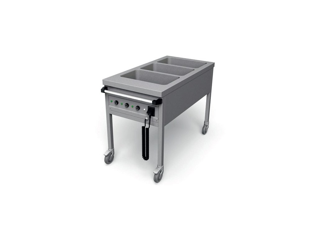 Ohrevný vozík delený na 3x GN1/1