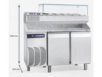 Chladiaci stôl 160x75x156 cm