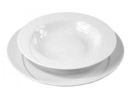 """Tanier hlboký """"DELTA"""" porcelánový Ø 23 cm"""
