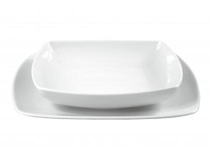 """Tanier hlboký """"OPERA"""" porcelánový 20,5x20,5 cm"""