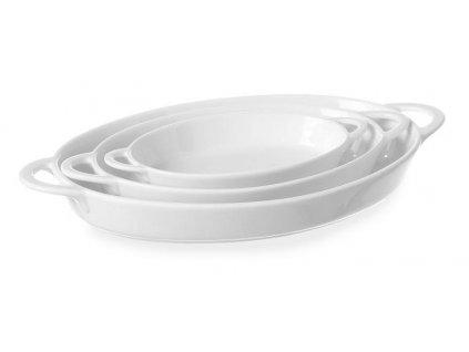 misky ovalne s uchytmi porcelanove