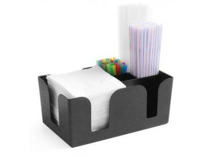 zasobnik na servitky slamky plastovy 24 5x15x11 cm