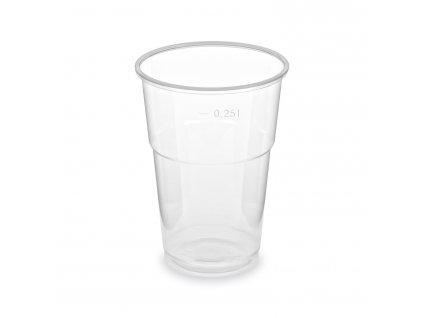 Pohár priehľadný 0,25 l -PP- (Ø 78 mm) [50 ks]