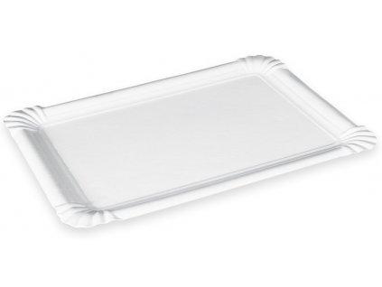 Papierové tácky biele - balenie 250 ks
