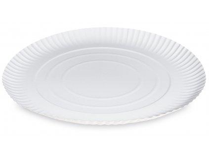 Papierové taniere hlboké biele