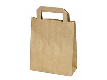 Tašky 18+8x22 cm hnedé