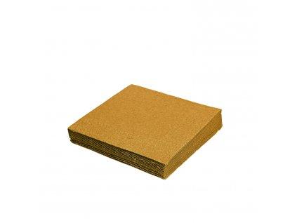 Obrúsky 3-vrstvé, 33 x 33 cm zlaté [20 ks]