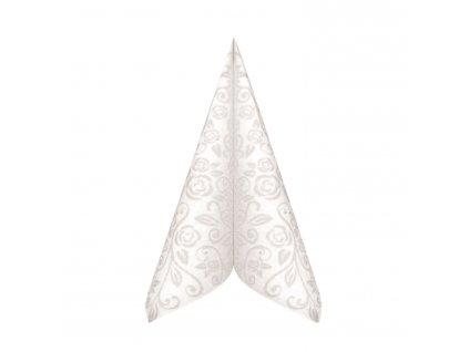 Obrúsky PREMIUM dekor R biele