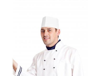 Kuchárske čiapky lodičky biele