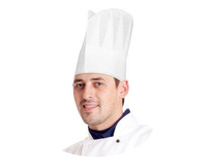 Kuchárska čiapka biela 23 cm