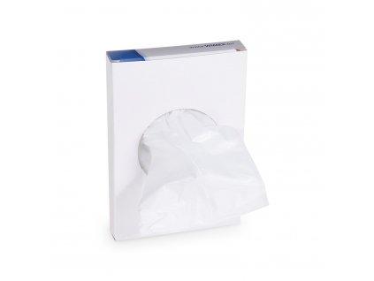 Hygienické vrecká biele (HDPE) 8+6 x 25 cm [30 ks]