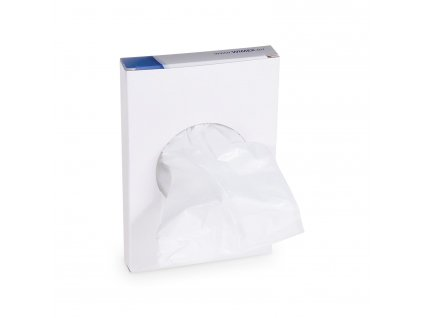 Hygienické vrecká biele 8+6x25 cm