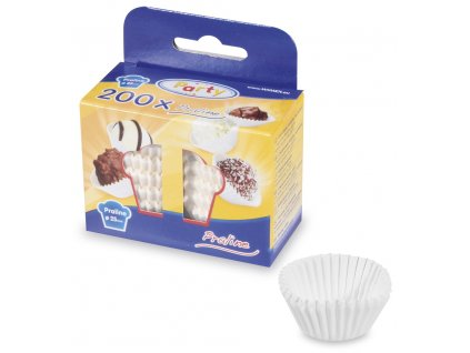 Cukrárenske košíčky biele