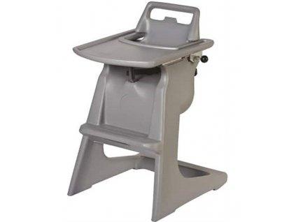 Detská stolička - sivá